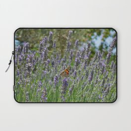 Lavender and Orange Butterfly Laptop Sleeve