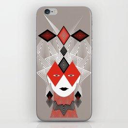 The Queen of diamonds iPhone Skin