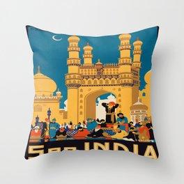 Vintage poster - India Throw Pillow