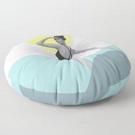 Swimmer Collage Floor Pillow
