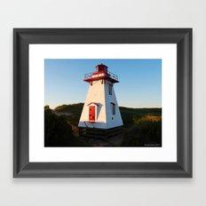 Lighthouse in the Dunes Framed Art Print
