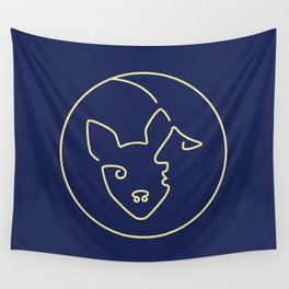 Dog & Moon Wall Tapestry