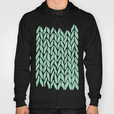Hand Knitted Mint Hoody