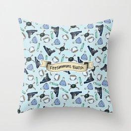 FitzSimmons Biatch Pattern Throw Pillow