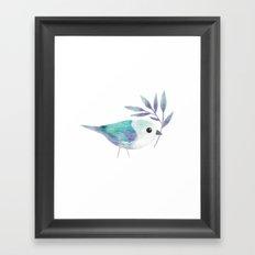 Blue Gray Tanager Framed Art Print