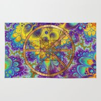 hippy Area & Throw Rugs featuring Hippy 1 Psychedelic by BohemianBound