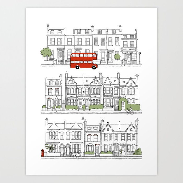 London houses Art Print