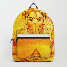 Ganesha Gold, Ganapati, Vinayaka, Elephant God Backpack