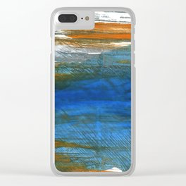 Abstract watercolor Clear iPhone Case