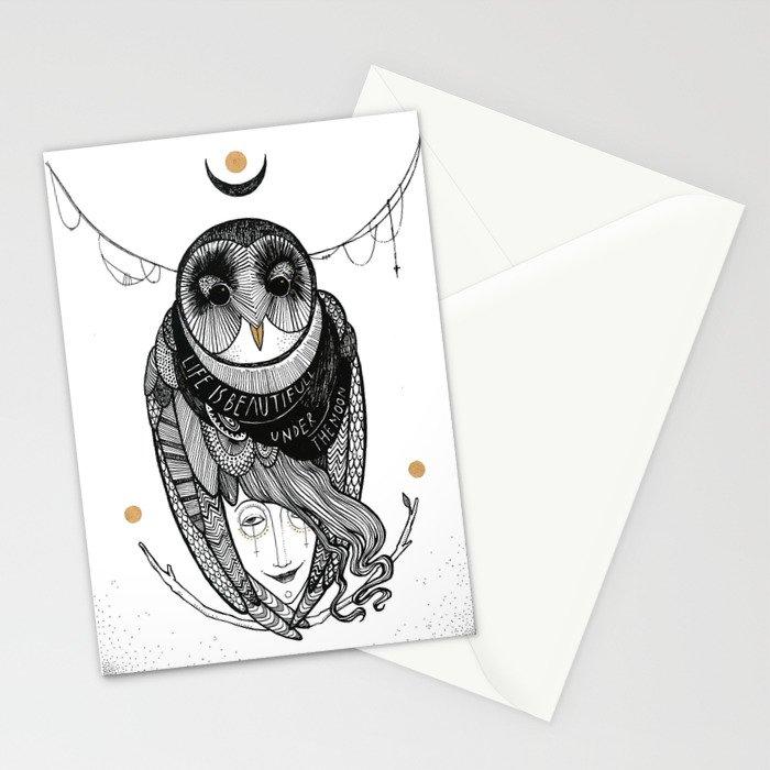 bird women Stationery Cards