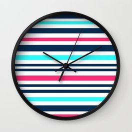 Striped multi-colored3 Wall Clock
