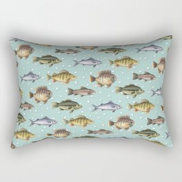 Watercolor Fish Rectangular Pillow