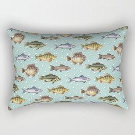 Watercolor Fish Rectangular Pillow