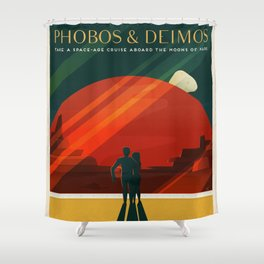 SpaceX Mars tourism poster / DP Shower Curtain