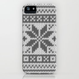 Winter knitted pattern4 iPhone Case