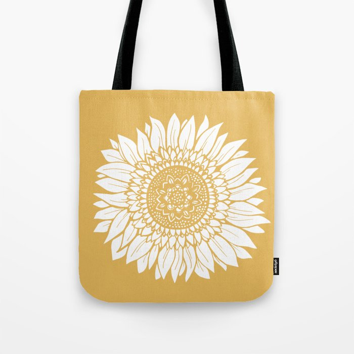 Yellow Sunflower Drawing Umhängetasche