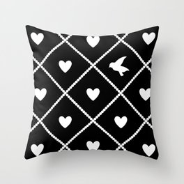 Always Near (from the Valentine set) (colors: midnight moon) Throw Pillow