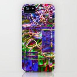 Alien Puke Glitch iPhone Case