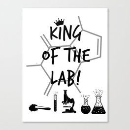King of The Lab Canvas Print