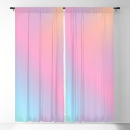Abstract aurora pink teal lavender blue watercolor gradient Blackout Curtain