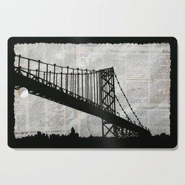 News Feed , Newspaper Bridge Collage Cutting Board