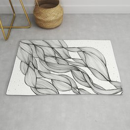 Rays of Lines Rug