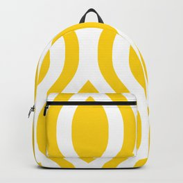 Pretty Ogee Pattern 431 Yellow Backpack