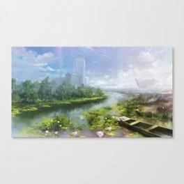 Zasavica reserve, Alterslavia. Canvas Print