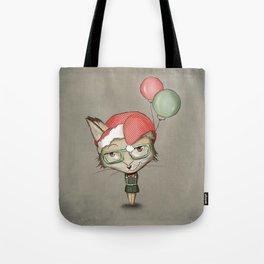 Christmas Fox Tote Bag