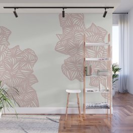 Les Coquilles Roses - baby pink shells Wall Mural