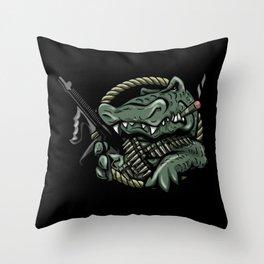 Bad Gator Throw Pillow