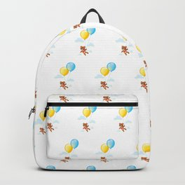 Balloons and Teddy Bear Backpack