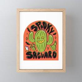 Spooky Saguaro Framed Mini Art Print