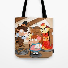 the shepherdess and the chimney sweep Tote Bag