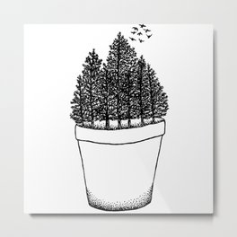 Potted Forest Metal Print