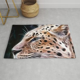 Leopard lines,Leopard painting Rug