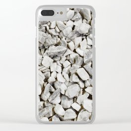 Stone Marble Chips Clear iPhone Case