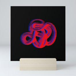 Snek 2 Snake Red Blue Mini Art Print