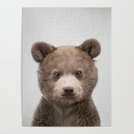 Baby Bear - Colorful Poster
