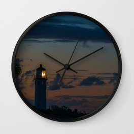 Point Vicente Lighthouse at Dawn Wall Clock