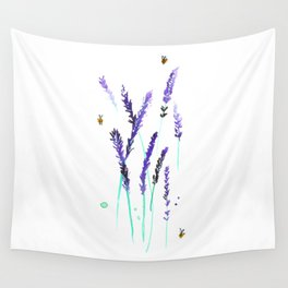 Lavender & Bees Wall Tapestry
