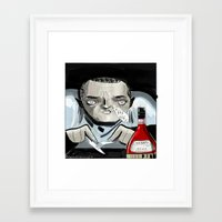 silence of the lambs Framed Art Prints featuring Silence of the Lambs' Hannibal Lecter by AdamAddams