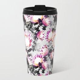 Floral pattern protea Travel Mug