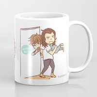 larry Mugs featuring Fighting Larry by susumzee