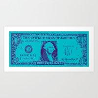 BLUE MONEY Art Print