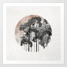 Crux - City in the Trees Art Print
