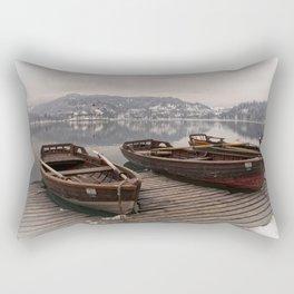 Rowing Boats At The Lake Bled Rectangular Pillow