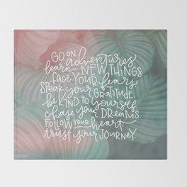 trust your journey Throw Blanket