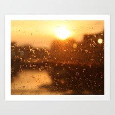 Rain Sunset I Art Print