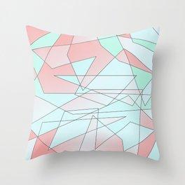 Mint & Coral Geometric Throw Pillow
